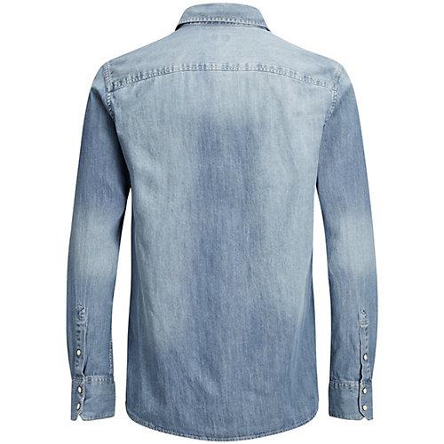 Джинсовая рубашка Jack & Jones - синий деним от JACK & JONES Junior