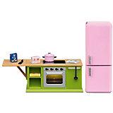 """Набор мебели для домика Lundby Смоланд """"Кухонный набор с холодильником"""""""