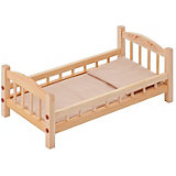 Классическая кроватка для кукол Paremo, бежевый текстиль