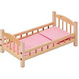 Классическая кроватка для кукол Paremo, розовый текстиль