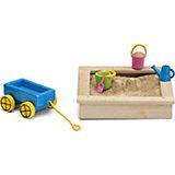 """Набор для домика Lundby Смоланд """"Песочница с игрушками"""""""