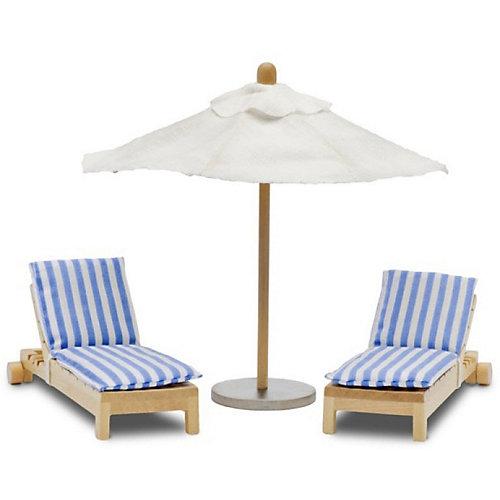 """Набор мебели для домика Lundby """"Шезлонги с зонтиком"""" от Lundby"""