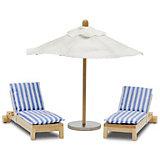 """Набор мебели для домика Lundby """"Шезлонги с зонтиком"""""""
