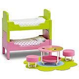 """Мебель для домика Lundby Смоланд """"Детская с 2 кроватями"""""""