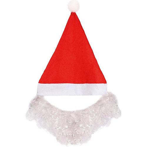 Колпак с бородой Новогодняя сказка, 28х35 см - разноцветный от Новогодняя сказка