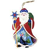 Подвеска Новогодняя сказка Дед мороз, 20х35,5 см