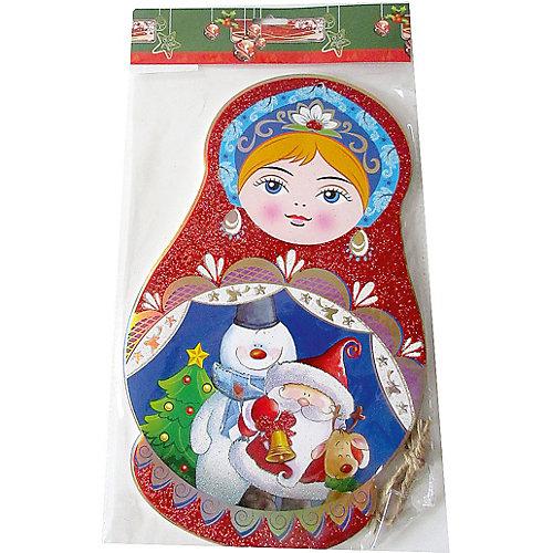 Подвеска Новогодняя сказка Снегурочка, 36х22 см - разноцветный от Новогодняя сказка