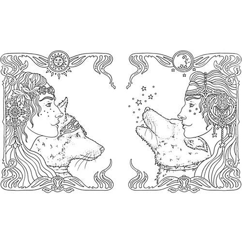 Книга для творчества Тотемные животные, Х. Карлсон от Махаон