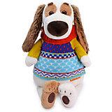 Мягкая игрушка Budi Basa Собака Бартоломей в свитере, 27 см