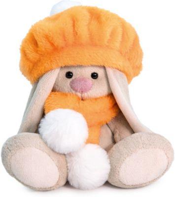 Мягкая игрушка Budi Basa Зайка Ми в оранжевом берете (малыш), 15 см