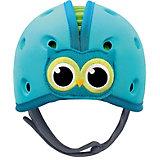 Мягкая шапка-шлем для защиты головы Safehead Baby Сова, сине-зелёная