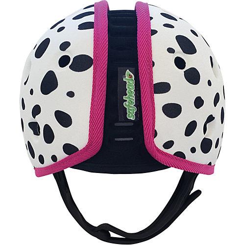 Мягкая шапка-шлем для защиты головы Safehead Baby Далматин, бело-розовый