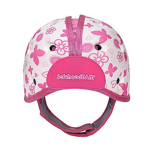 Мягкая шапка-шлем для защиты головы Safehead Baby Бабочка, бело-розовый