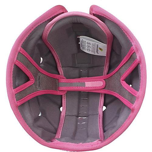 Мягкая шапка-шлем для защиты головы Safehead Baby Грибы, мятно-розовый
