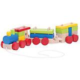 Конструктор-каталка Wonderworld Поезд на веревочке