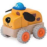 Деревянная игрушка Wonderworld Полицейская машина Собачка Miniworld