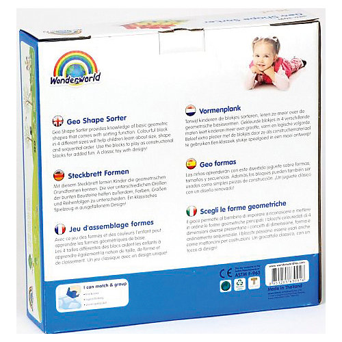 Логическая игрушка-сортер Wonderworld Геометрические фигуры от Wonderworld