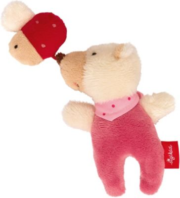 sigikid Red Stars Rassel Einhorn Rasselgreifling Greifling Baby Spielzeug Beige