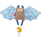 Мягкая игрушка Sigikid, музыкальная голубая Летучая Мышь, коллекция Городские Дети, 45 см