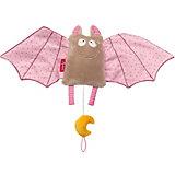 Мягкая игрушка Sigikid, музыкальная розовая Летучая Мышь, коллекция Городские Дети, 45 см