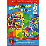 """Волшебный цветной картон Апплика """"Радужные цветы"""", 10 листов"""
