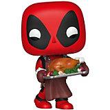 Фигурка Funko POP! Bobble: Marvel Праздничный Дэдпул, 43337