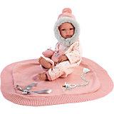 Кукла-младенец Llorens в розовом c одеяльцем 35 см