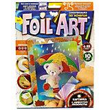 Набор для творчества Danko Toys Аппликация цветной фольгой Медвежонок с зонтом