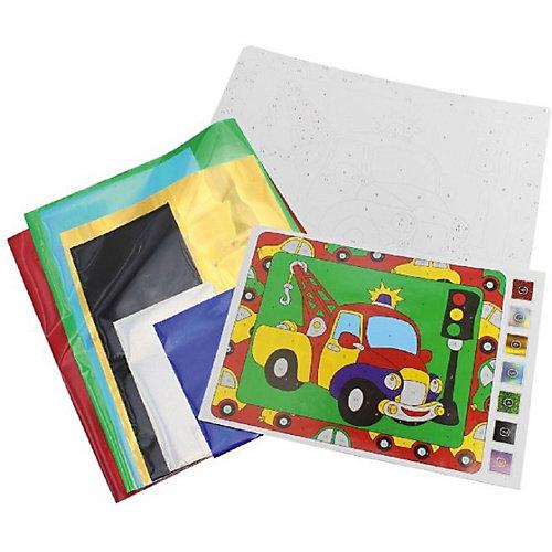Набор для творчества Danko Toys Аппликация цветной фольгой Машинка от Danko Toys