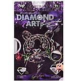Набор для творчества Danko Toys Алмазная аппликация Тигр с Розой
