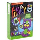 Набор для творчества Danko Toys Воздушный пластилин Neon Котик