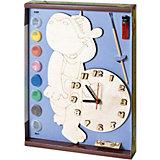 Набор для творчества Нескучные игры Часы с циферблатом под роспись Бегемот