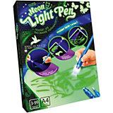 Набор для творчества Danko Toys Планшет для рисования ультрафиолетом Neon light pen, набор № 2