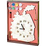 Набор для творчества Нескучные игры Часы с циферблатом под роспись Домик
