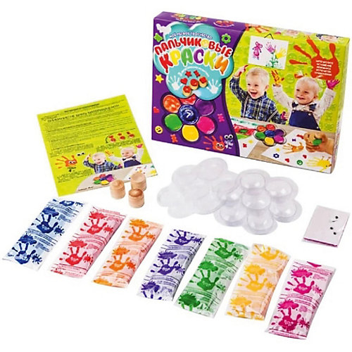 Набор для творчества Danko Toys Пальчиковые краски Моё первое творчество от Danko Toys