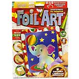 Набор для творчества Danko Toys Аппликация цветной фольгой Слонёнок