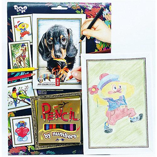 Набор для творчества Danko Toys Раскраска карандашами по номерам Собачка от Danko Toys