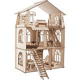 Сборная модель ХэппиДом Коттедж с мебелью Premium