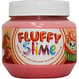 Слайм Monster's Slime Fluffy Красный с ароматом клубники, 250 мл