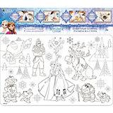 """Защитный коврик-раскраска для стола Десятое королевство Disney """"Холодное сердце"""""""