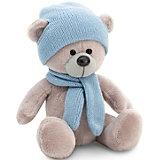 Мягкая игрушка Orange Медведь Топтыжкин серый: в шапке и шарфе, 25 см