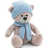Мягкая игрушка Orange Медведь Топтыжкин серый: в шапке и шарфе, 17 см