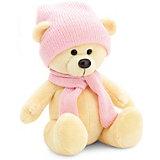 Мягкая игрушка Orange Медведь Топтыжкин жёлтый: в шапке и шарфе, 25 см