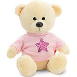 Мягкая игрушка Orange Медведь Топтыжкин жёлтый: Звезда, 17 см
