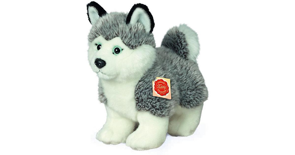 Husky stehend 23 cm grau/weiß