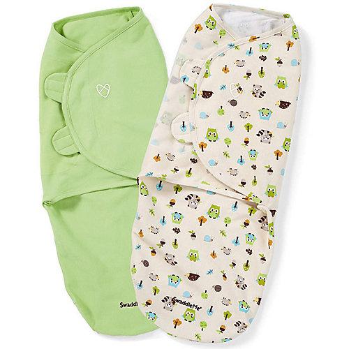 Конверт для пеленания на липучке Summer Infant, зеленый, лесные друзья - зеленый от Summer Infant