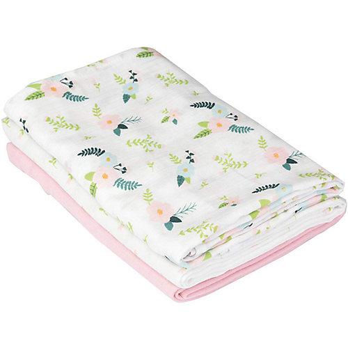 Набор пеленок Summer Infant, розовый, цветы - розовый от Summer Infant