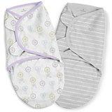 Конверт для пеленания на липучке Summer Infant, серый, сердечки