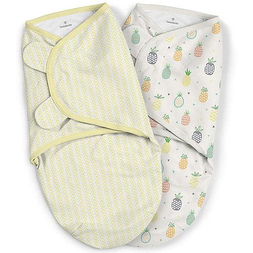 Конверт для пеленания на липучке Summer Infant, ананасы, желтый - желтый от Summer Infant