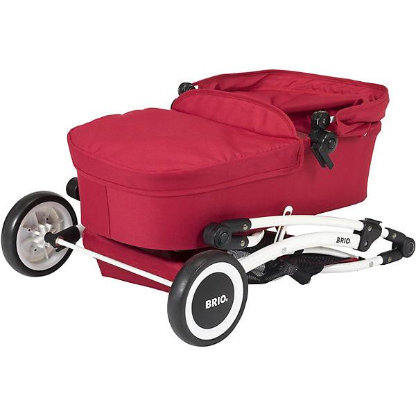 Puppenwagen Spin rot mit Schwenkrädern, BRIO sPERhw